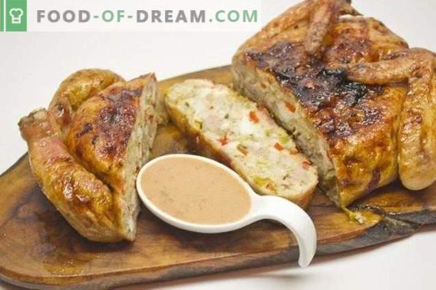 Gevulde kip met groenten en pancetta