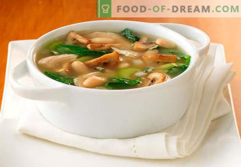 Soep in champignonbouillon - de beste recepten. Hoe goed en smakelijk koken soep in champignonbouillon.