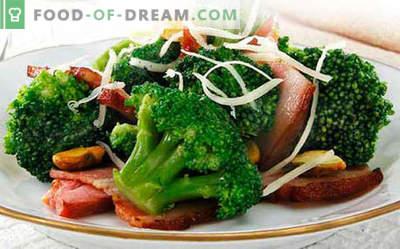Broccolisalade - vijf beste recepten. Hoe goed en smakelijk gekookt broccoli salade.