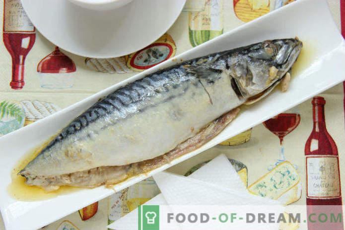 Makreel gebakken in de oven in folie met zure room, stap voor stap recept