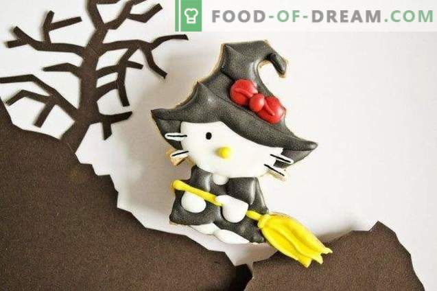 Halloween Kitty Witch Cookies