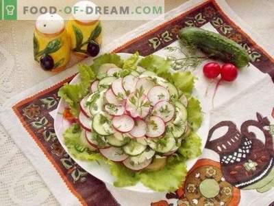 Lente gelaagde salade