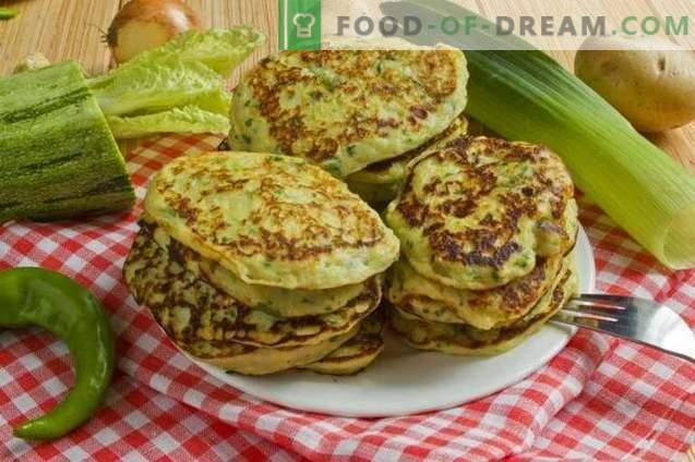 Aardappelpannenkoekjes met courgette
