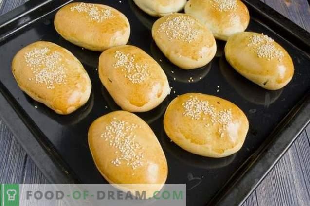 Pasteitjes met rijst en ei in de oven