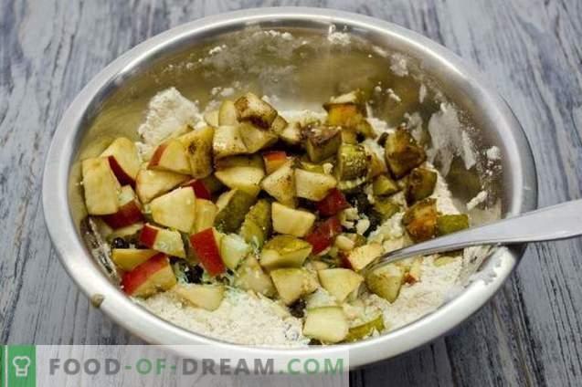 Fruittaart met appels, peren en noten