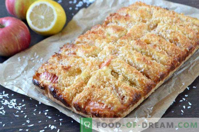 Apple pie with lemon jam, recipe in the oven