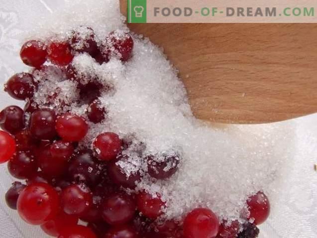 Veenbessen, geraspt met suiker