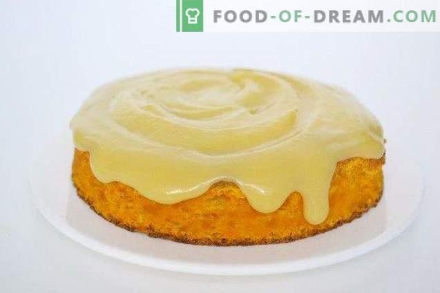 Biscuit à la carotte à la crème d'orange
