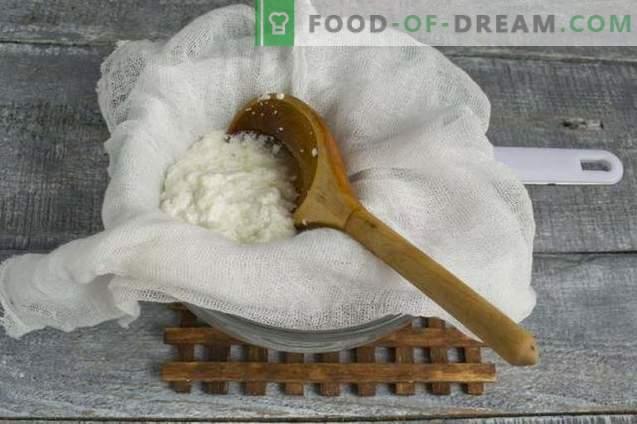 Zelfgemaakte kefir en melkkaas