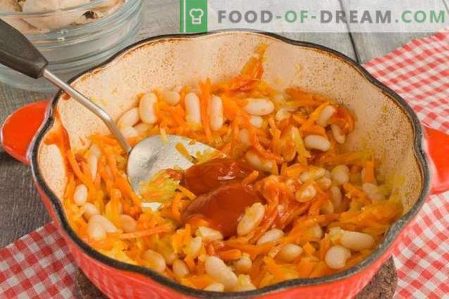 Stewed Beans with Mushrooms
