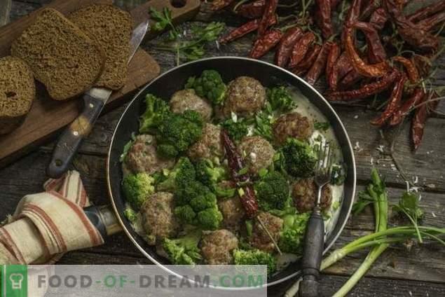 Fast meat pasteitjes met broccoli in bechamelsaus