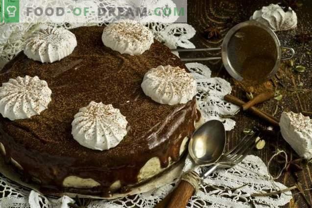 Chocoladetaart met Marshmallow