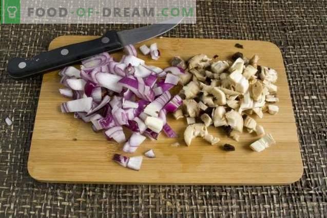 Gevulde champignons, gebakken in de oven
