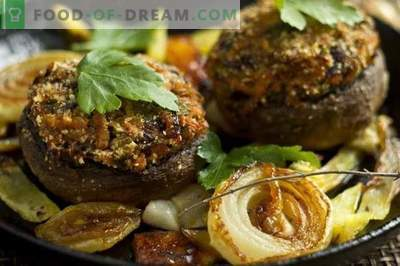 Stuffed mushrooms, baked in the oven