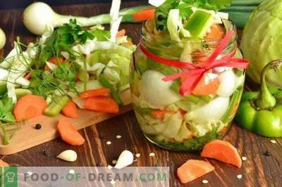 Salad of pickled vegetables for the winter