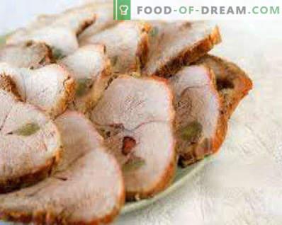Gebakken varkensvlees in varkensvlees, recepten