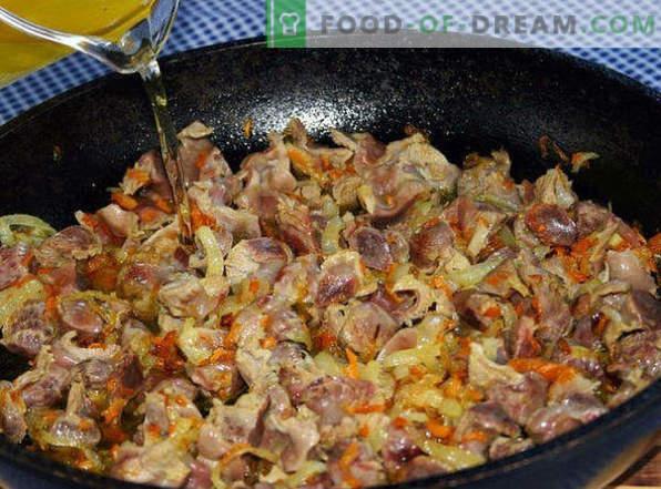 Zo kook je heerlijke kippenmagen in een pan, in een slowcooker, in een oven, in zure room, in potten