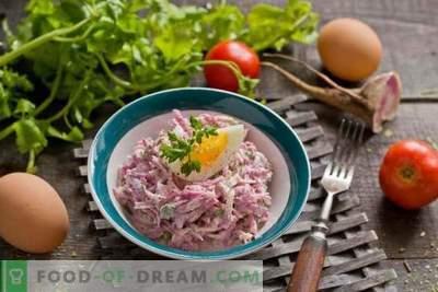 Lente radijs salade met ei en mayonaise