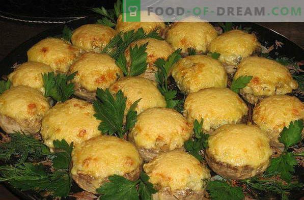 Tien beste recepten van ovengebakken gevulde champignons