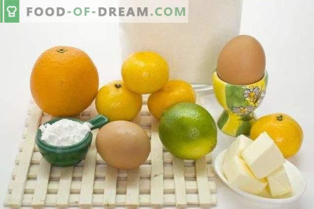 Koerd oranje met limoen en mandarijnen