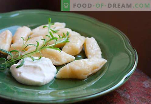 Dumplings met cottage cheese - de beste recepten. Hoe goed en smakelijk koken traditionele en luie dumplings met kwark thuis.