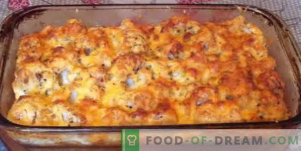 casseruola di cavolfiore in forno, ricette con formaggio, uovo, pollo, carne macinata, zucchine