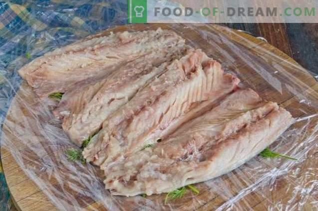 Makrelenrolle in Frischhaltefolie
