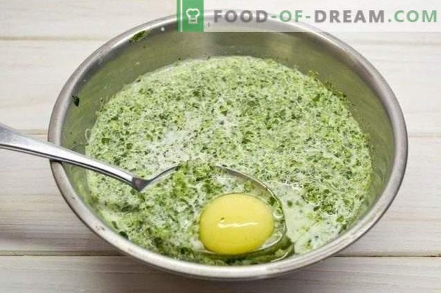 Dunne pannenkoeken met spinazie