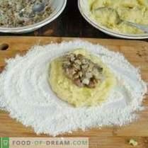 Aardappelkoekjes met champignonvulling