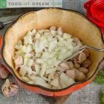 Varkensvlees met courgettes en aardappelen