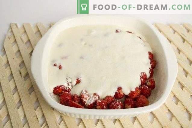 Klafuti mit Erdbeeren