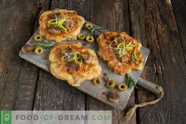 Fritters-kefir pizza - en voedzaam, en snel