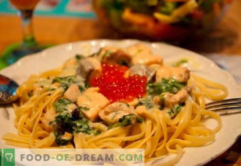 Losos v kremni omaki - najboljši recepti. Kako pravilno in okusno kuhati lososa v kremni omaki.