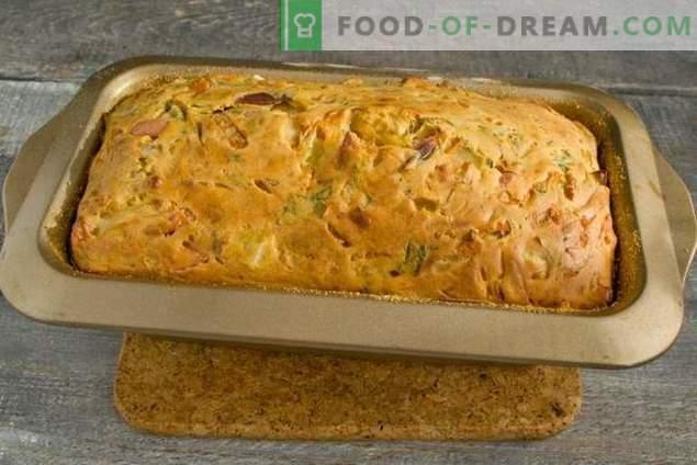 Heerlijke taart met kool in de oven