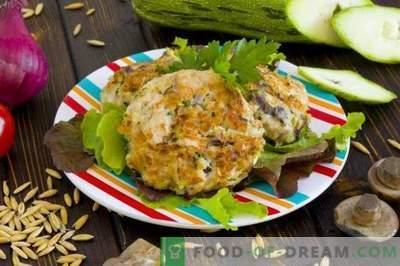 Kipfilet met champignons en courgette