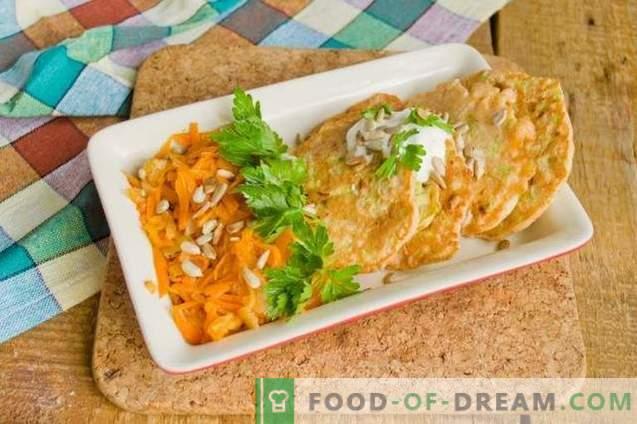 Courgette-schnitzels met een bijgerecht voor een snel diner