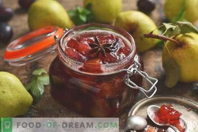 Pear and Plum Jam - the easiest to prepare