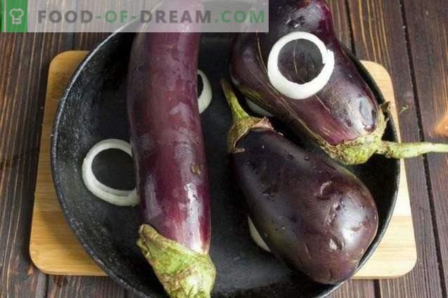 Aardappelpuree met aubergine