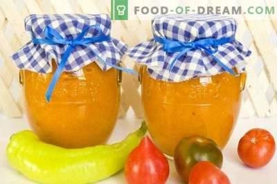 Schep kaviaar van gebakken groenten