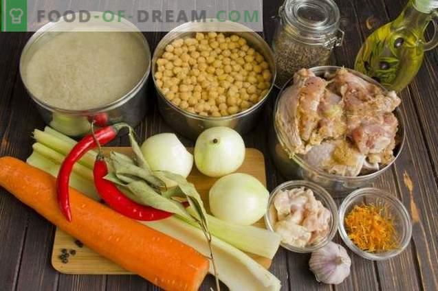 Pilaf met kip en kikkererwten