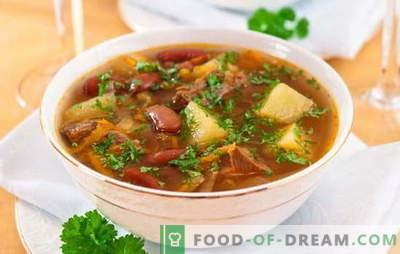 Soep met bonen en vlees: hoe kook je een heerlijke bonensoep? Simpele recepten voor soep met bonen en vlees