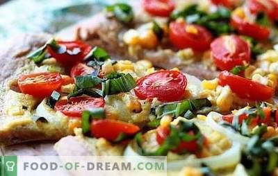 Pizza sem queijo - e isso acontece! Receitas de pizza diferente sem queijo de fermento rápido, massa folhada