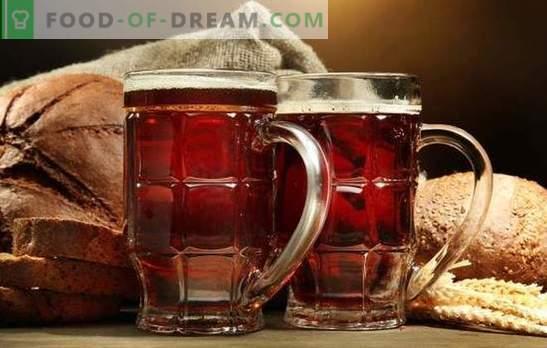 Zelfgemaakt kvasje van crackers is een verfrissend gezond en lekker drankje. De beste recepten voor het maken van kvass van crackers thuis