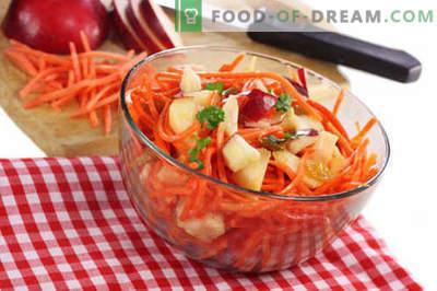 Wortel en appelsalade - de beste recepten. Hoe goed en smakelijk een salade van wortelen en appels te bereiden.