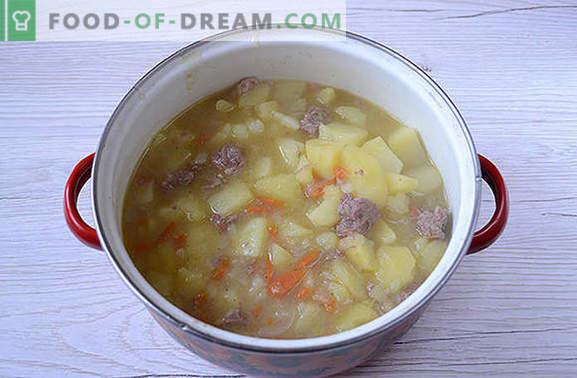 Het klassieke recept voor aardappelen met ingeblikt vlees: de smaak van de keuken van het land van de Sovjets. Hoe banale aardappelen te koken met stoofpot heerlijk: een stap voor stap recept met foto's