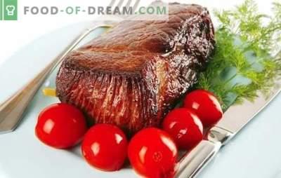 Rundvlees met tomaten - een duet met smaak! Een selectie van de beste recepten voor het bereiden van mals rundvlees met tomaten.