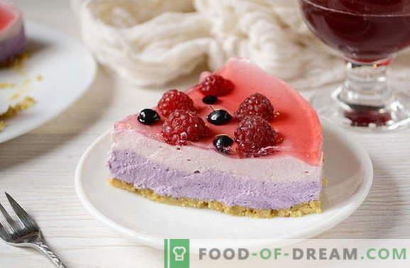 Zelfgemaakte jelly cake zonder bakken - het perfecte dessert voor een vrije dag. Schrijf het recept op!