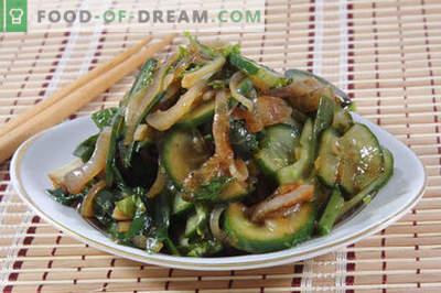 Salades met sojasaus - een selectie van de beste recepten. Hoe goed en smakelijk salades gekookt met sojasaus.