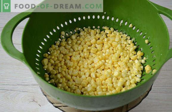 Hoe maïs in granen te bevriezen