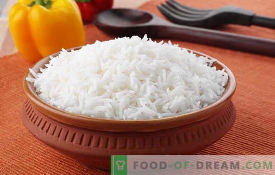 Hoe rijst koken zodat het kruimelig is. Recepten van kruimelige rijst, het geheim van het koken van rijst, zodat het kruimelig was